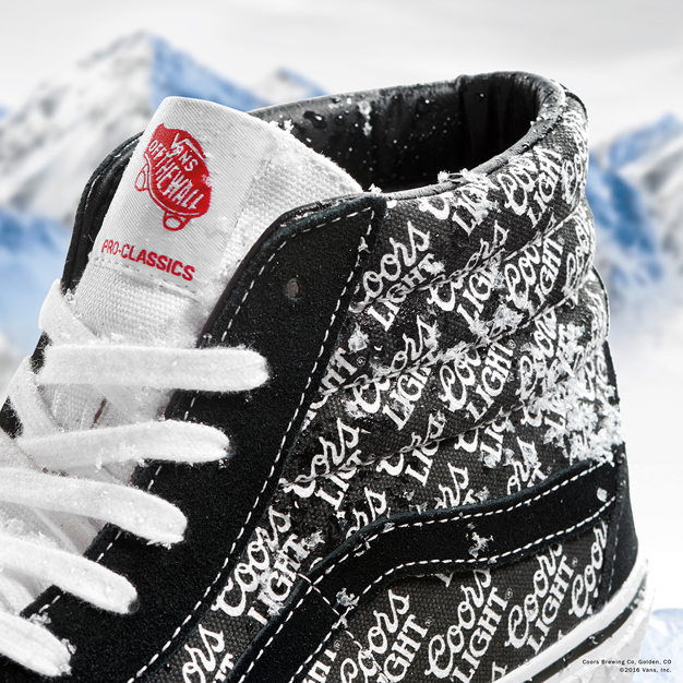 c4520648bd3 The limited edition Vans x Coors Light Sk8-Hi Pro launches at select  stockists nationwide Saturday